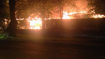 Firefighters tackle blaze in east Belfast