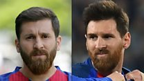 O jovem que se tornou celebridade no Irã por ser sósia de Messi