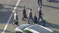 FBI director escorted by motorcade