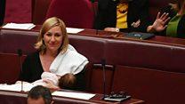 لاريسا واترس أول سياسية ترضع ابنتها في البرلمان الأسترالي