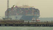 Biggest ship to ever visit UK