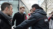 Gay rights activists detained in Moscow