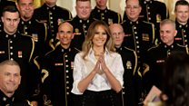 Melania's Mothers' Day message to military