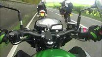 Footage shows Dorset A31 biker ride-out mayhem
