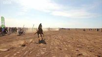 أول سباق للخيول العربية الأصيلة في ريف حلب