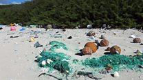 Así se ve la playa de la isla del Pacífico con más concentración de basura plástica del mundo