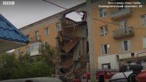 Дом в Волгограде, обрушившийся из-за утечки газа
