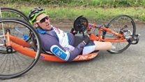 Double amputee completes 150-mile ride