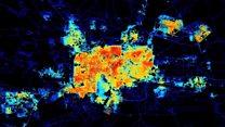 从卫星图片看叙利亚灯起灯灭