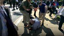 Türkiye'nin Washington Büyükelçiliği konutu önünde arbede: 9 yaralı