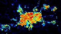 Imágenes satelitales de la NASA muestran la destrucción de la red eléctrica en Siria durante seis años de guerra