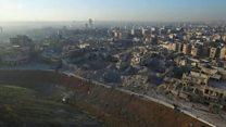 Город без света: как менялись космические снимки Алеппо