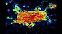 Cidade apagada: Imagens aéreas da Nasa mostram impacto da guerra sobre luzes de Aleppo