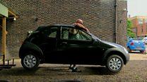 Car-lifting strongman chasing dream