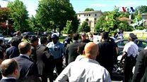 トルコ体制派と反体制派がワシントンで衝突 入り乱れて乱闘