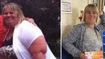 Woman who lost 18 stone wins slim title