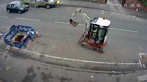 Bogus workmen's slow digger getaway