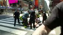 Footage from Times Square incident