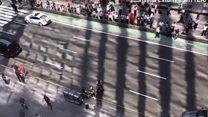 Машина врезалась в толпу на Таймс-сквер: видео очевидцев