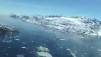 گرین لینڈ کے گلیشیئرز پر طائرانہ نظر