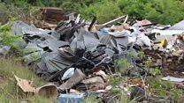 Tonnes of rubbish dumped near park