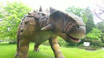 The dinosaurs roaming around Birmingham