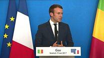 Au Mali, Macron endosse le manteau de chef des armées
