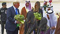 صدر ٹرمپ اہلیہ کے ہمراہ سعودی عرب پہنچ گئے