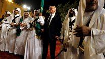 特朗普访沙特参与剑舞仪式
