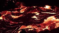 This lava flow in Hawaii is mesmerising