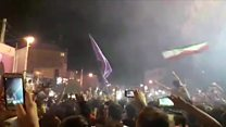 شب بیداری هواداران حسن روحانی بعد از پیروزی در انتخابات
