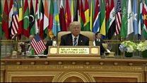 حمله رئیس جمهوری آمریکا به ایران در عربستان سعودی