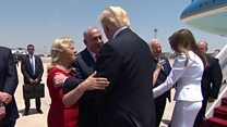 'Welcome my good friend' - Trump in Israel