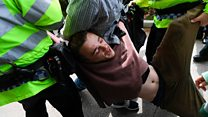 Hunting protester arrested at May event