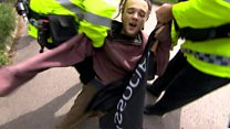Hunting protester arrested