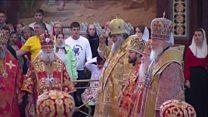 Russian faithful flock to saint's relics