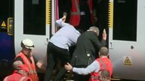 Commuter train stuck for hours