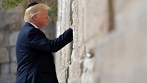 Trump visits Western Wall in Jerusalem