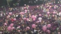 Concert goers flee Manchester Arena