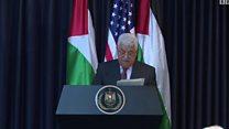 عباس: ملتزمون بالتعاون مع الولايات المتحدة لإحلال السلام