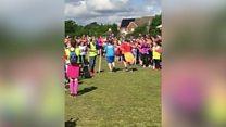 Double stroke sufferer's run triumph