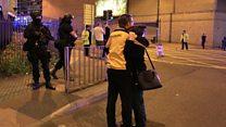 Dad speaks of arena 'panic' after blast
