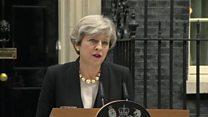 رئيسة الوزراء البريطانية تريزا  تقول إن الشرطة تعلم هوية الجاني