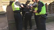 Vigil 'axeman' arrested by police