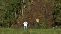 Survivors return to Chapecoense crash scene