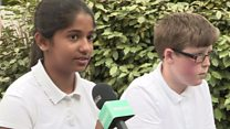 School kids react to the attack in Manchester