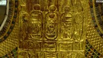 سرير وعجلة لتوت عنخ آمون في المتحف المصري