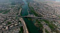 كاميرات بي بي سي تحلق فوق الموصل ملتقطة مشاهد بزاوية 360 درجة