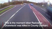 Motorbike death crash footage released