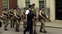 Troops arrive at Downing Street